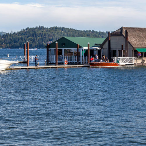 dock side, boating, places to eat on the lake,
