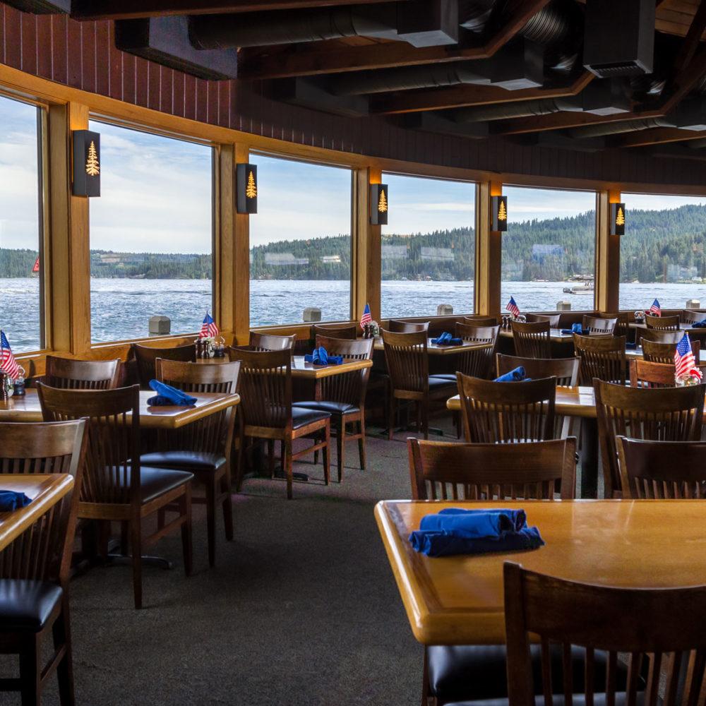 lakeside dining, lake coeur d'alene, best restaurant