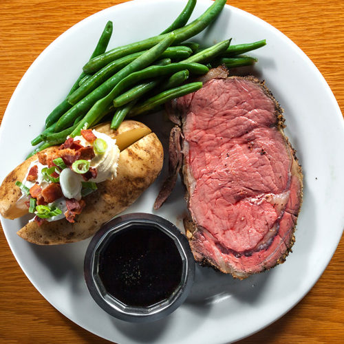 prime rib, dinner, restaurant, best in cda, near me