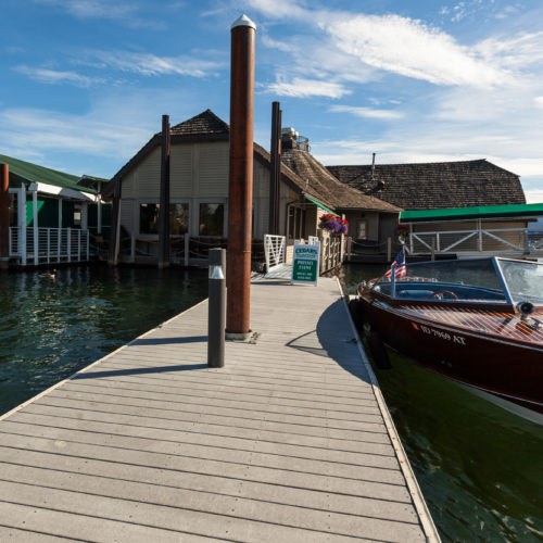 wood boat, floating restaurant